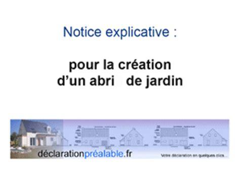 declaration prealable de travaux abri jardin plan de coupe dp3