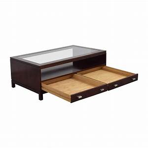 84 off stickley wood coffee table with storage space With coffee table with storage space