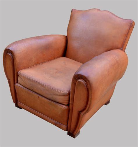 fauteuil club en cuir ancien