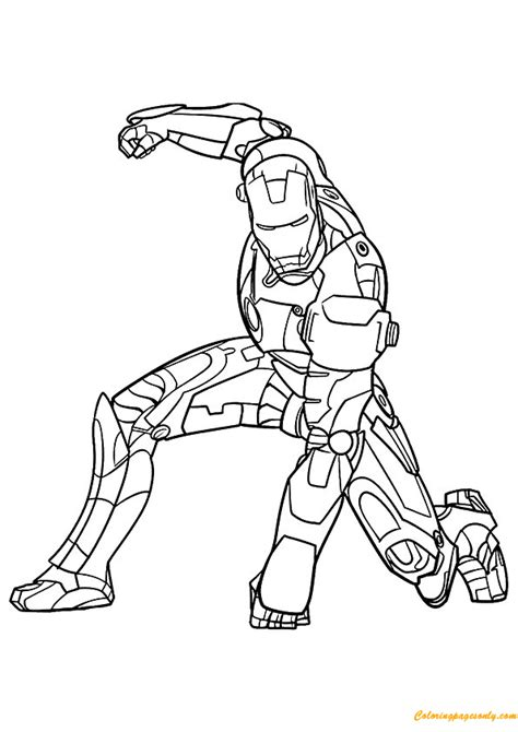 iron man avengers coloring page free coloring pages online