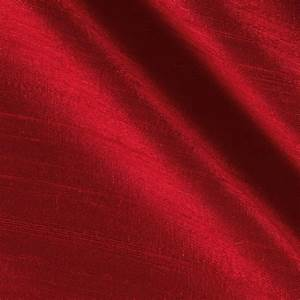 Dupioni Silk Fabric Red - Discount Designer Fabric