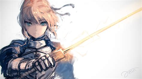 Wallpaper 1920x1080 Px Anime Girls Fate Fate Series Saber Stay Night 1920x1080