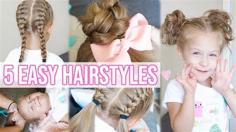 5 Easy Hairstyles For Little Girls Back To School