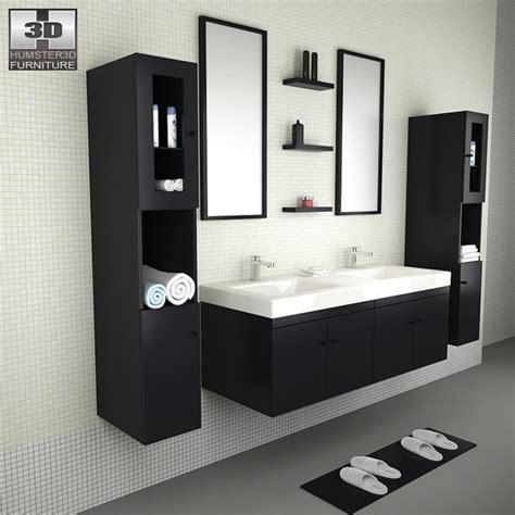 bathroom furniture 08 set 3d model hum3d