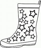 Boots Rain Coloring Clipart Cowboy Desenhos Botas Printable Colorir Kleidung Boot Ausmalbilder Drawing Malvorlage Artigianato Clipartmag Shoe Popular Divertente Pioggia sketch template