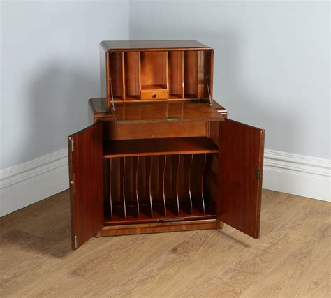 deco bureau antique deco figured walnut office writing bureau