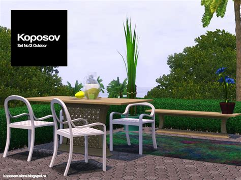 My Sims 3 Blog Outdoor Set By Koposov