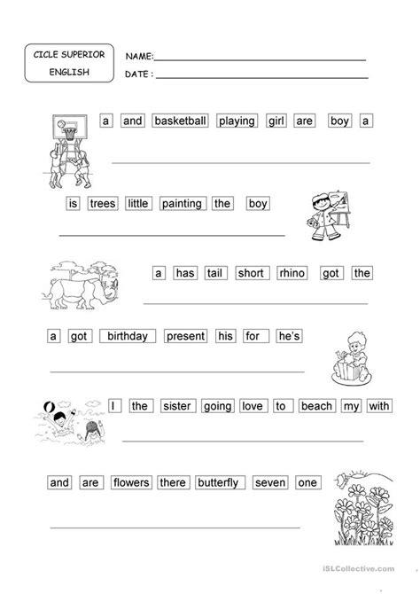 all worksheets 187 word order sentences worksheets