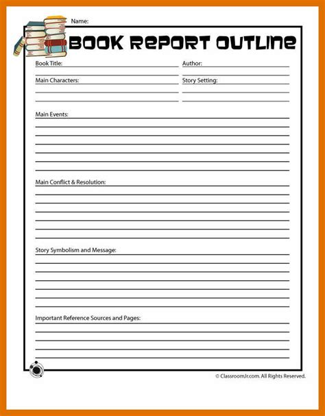 book report format sowtemplate