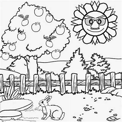 Scenery Class Drawing Coloring Pages Getdrawings