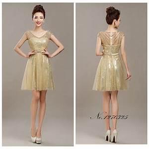 ruthshen rose gold sequin mermaid bridesmaid dresses short With short gold wedding dresses