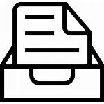 Interface Symbol Outlined Inbox Document Icon Onlinewebfonts