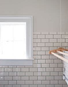 Biscuit colored ceramic subway tile   New house