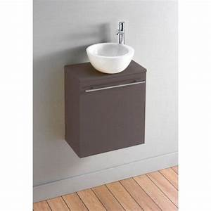 pack meuble lave mains florence taupe design achat With salle de bain design avec lave main ikea