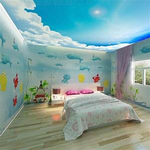 Free shipping 3d wallpaper dolphin cartoon child real ...