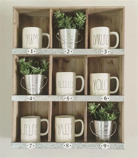 slot target cubby  rae dunn mugs farmhouse style