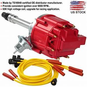 Chevy Sbc Bbc 305 350 Hei Distributor 65k Spark Plug Wire