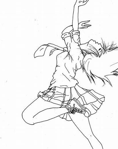 Jazz Dance Coloring Drawing Pages Line Library