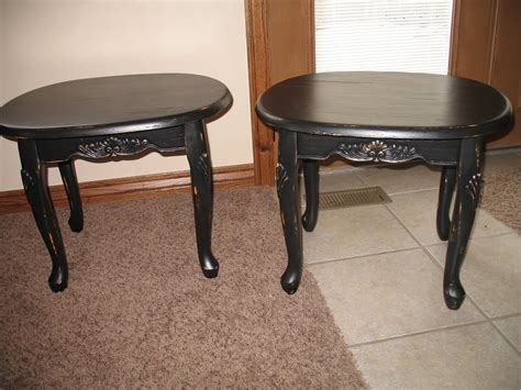 Shabby And Chic Black Coffee Table And End Tables