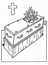 Funeral Coloring Holiday Deceased Template sketch template