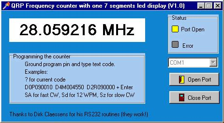 Frequency Counter For Qrp Equipment With One Segments