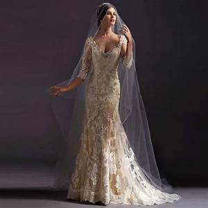 aliexpresscom buy 2016 fashion gowns lace wedding dress With champagne wedding dresses with sleeves