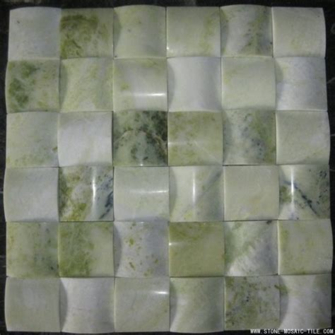 green onyx mosaic with big concave design eastwood