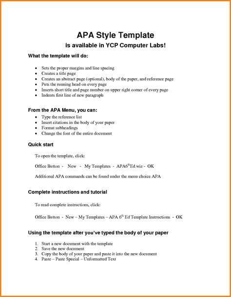 Apa 6th Edition Outline Template Search Results For Apa Format Exle Calendar 2015