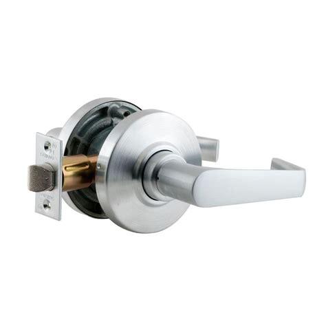 schlage door locks schlage saturn satin chrome keyless passage