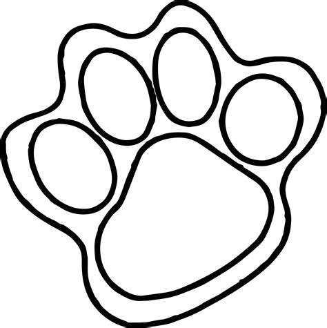 tiger foot print coloring page wecoloringpagecom