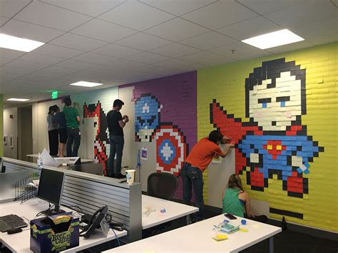 bureau post it bored employee uses 8 024 post it notes to transform