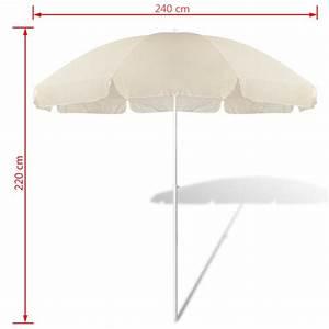 Parasol De Plage Pas Cher : acheter 240cm parasol de plage jaune de sable pas cher ~ Dailycaller-alerts.com Idées de Décoration