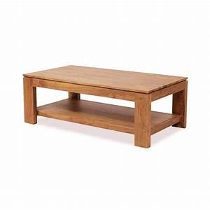 Table Basse Bois : table basse en bois d 39 acacia guntur plateau rectangulaire ~ Teatrodelosmanantiales.com Idées de Décoration