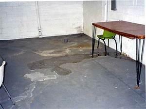 Basement water coming up through basement floor view for Water coming up from basement floor