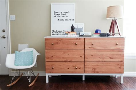 Tarva 6 Drawer Dresser Hack by Remodelaholic 25 Ikea Tarva Chest Hacks