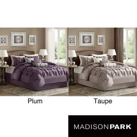 madison park vivian polyester solid tufted 7 piece comforter set