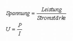 Stromstärke Berechnen Formel : elektronik grundlagen leistung und spannung ~ Themetempest.com Abrechnung