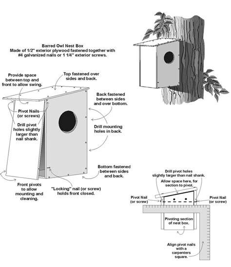 barred owl nest box plan
