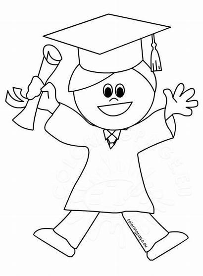 Student Happy Coloring Graduated Graduating
