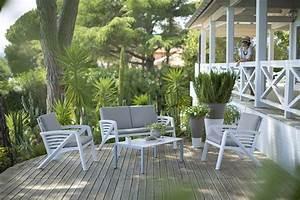 Salons De Jardins : salon de jardin sunday grosfillex ~ Teatrodelosmanantiales.com Idées de Décoration