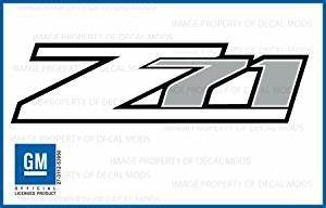 amazoncom gmc sierra z71 white decals stickers fw With kitchen colors with white cabinets with gmc sierra stickers