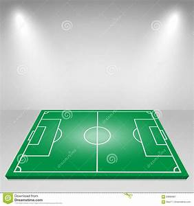 Football field with lamp royalty free stock image