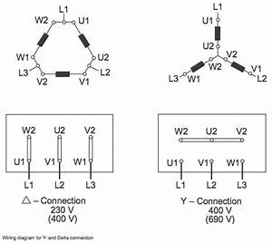 Star- Delta  Y- U0394  Connection Wiring Diagram