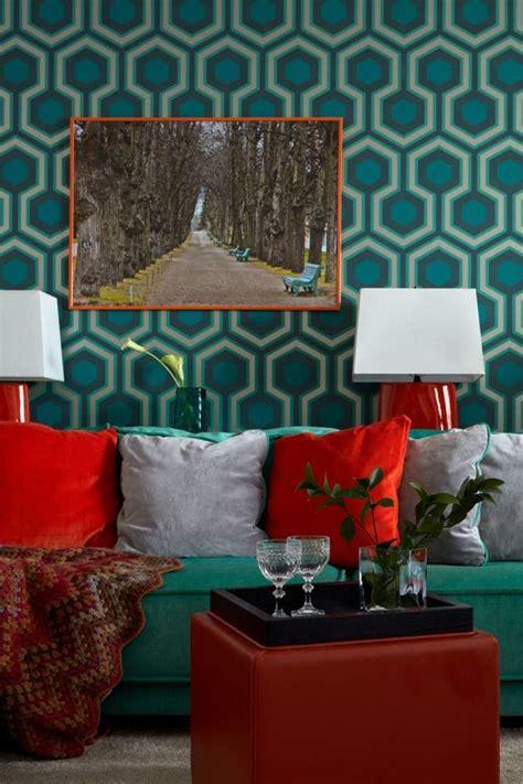 apartment with noble color palette emerald azure ochre purple home interior design