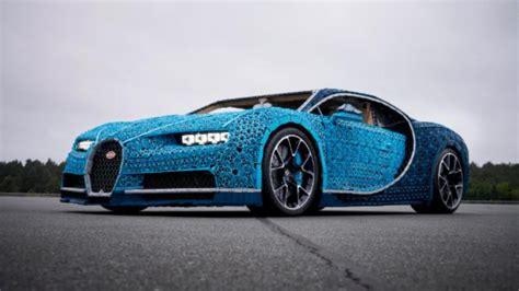 See This Lifesize Bugatti Cheron Made Of Lego Video
