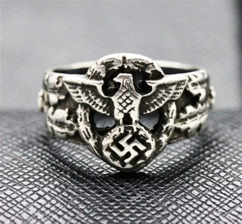 german silver ring eagle swastika antiq24 com