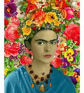 Frida Kahlo Kunstwerk : frida kahlo bees floral art poster print instant digital download boho collage modern home decor ~ Markanthonyermac.com Haus und Dekorationen