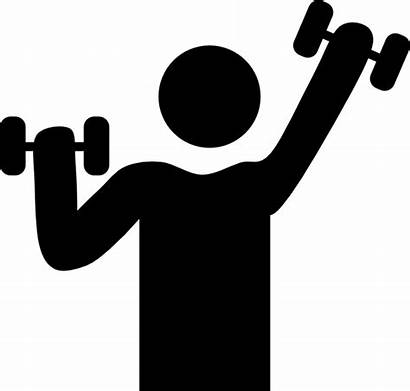 Exercise Symbol Dumbbells Clip Clipart Vector Royalty