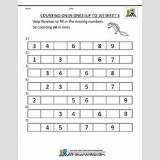 Kindergarten Counting Worksheet  Sequencing To 15