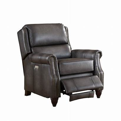 Recliner Leather Power Traditional Grey Nelson Genuine